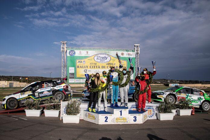 Podio Rally di Casarano 2021 (G. Cuna)